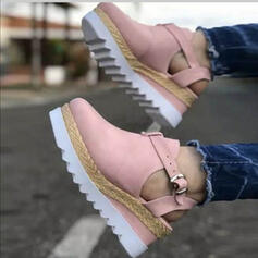 Women's Suede Others Round Toe With Buckle shoes