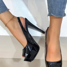 Women's PU Stiletto Heel Pumps With Hollow-out Solid Color shoes