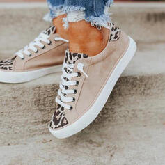 Women's Cloth Flat Heel Flats Low Top Round Toe Espadrille With Lace-up shoes