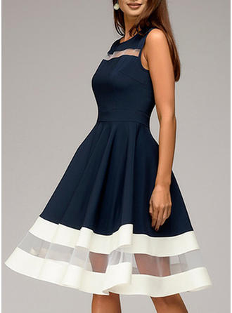 Striped Sleeveless A-line Knee Length Vintage/Casual/Party Dresses