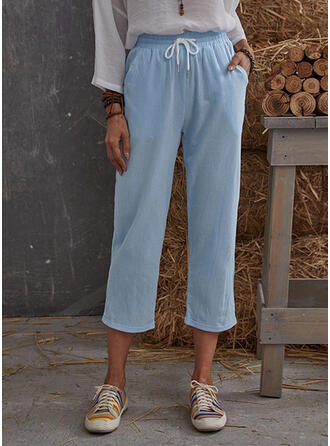 Solid Drawstring Casual Solid Lounge Pants